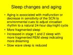 sleep changes and aging