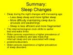 summary sleep changes