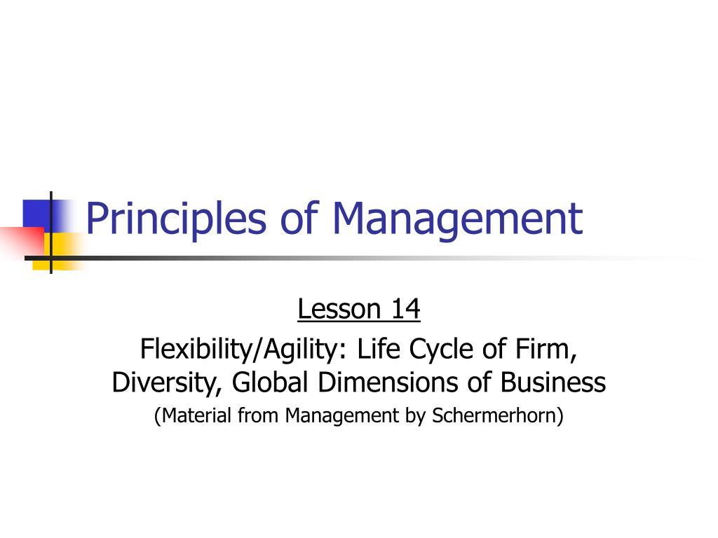 principles of management l.