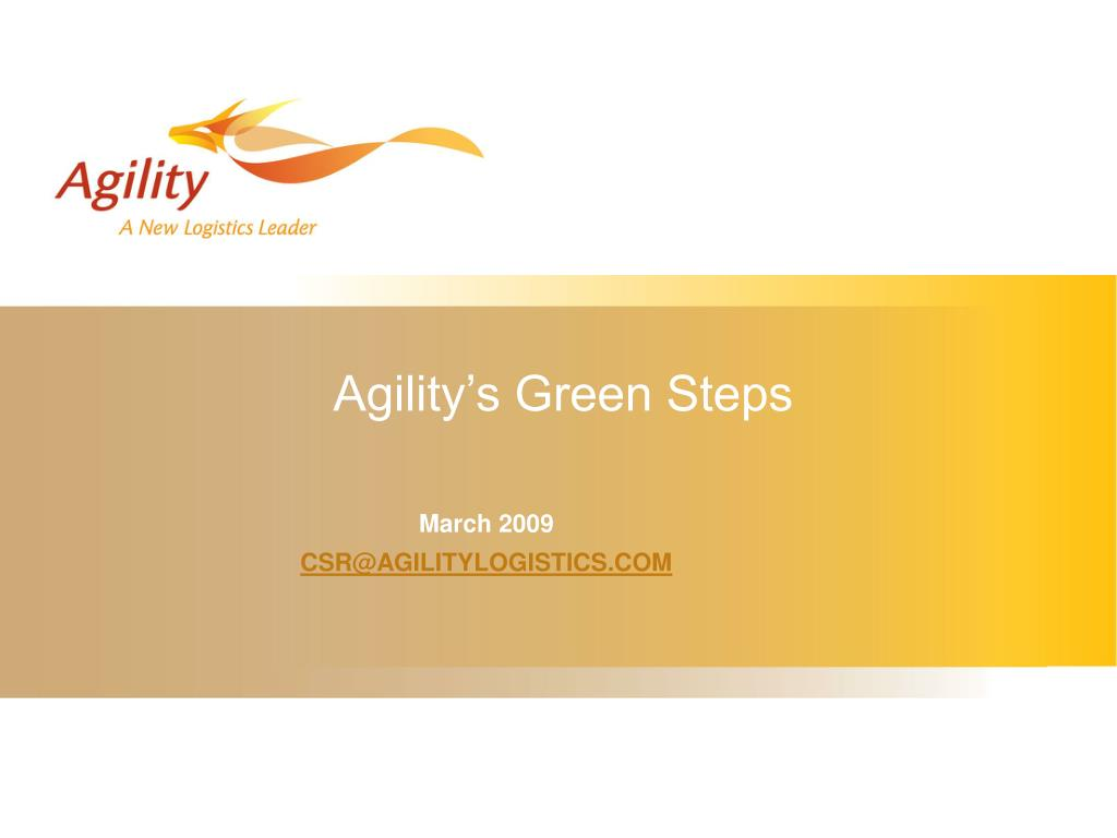 agility s green steps l.