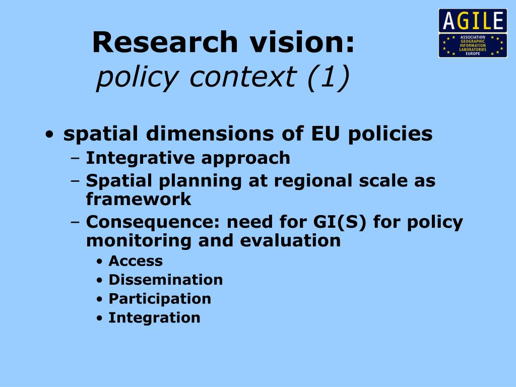 Research vision:
