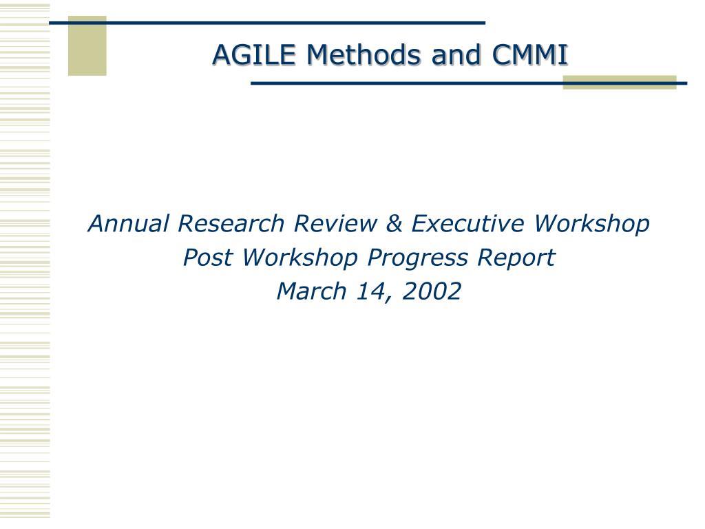 agile methods and cmmi l.
