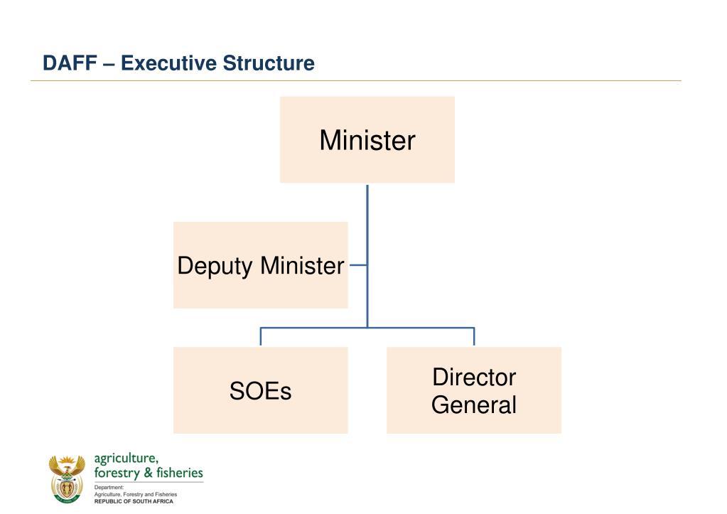 DAFF – Executive Structure
