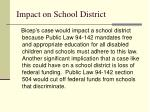 impact on school district