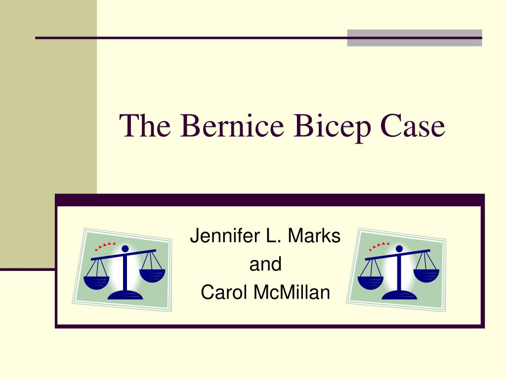 the bernice bicep case l.