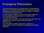 emergence phenomena
