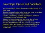 neurologic injuries and conditions