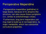 perioperative meperidine