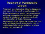 treatment of postoperative delirium