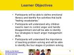 learner objectives5