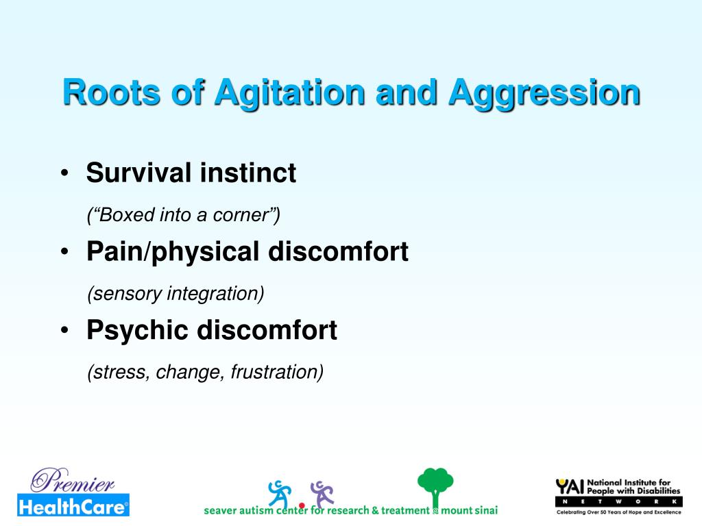 Roots of Agitation and Aggression
