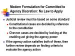 modern formulation for committed to agency discretion no law to apply