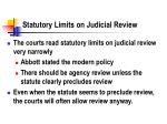 statutory limits on judicial review