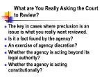 what are you really asking the court to review