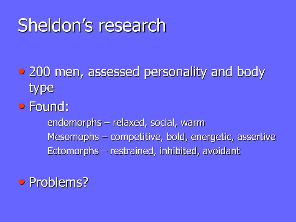 Sheldon's research