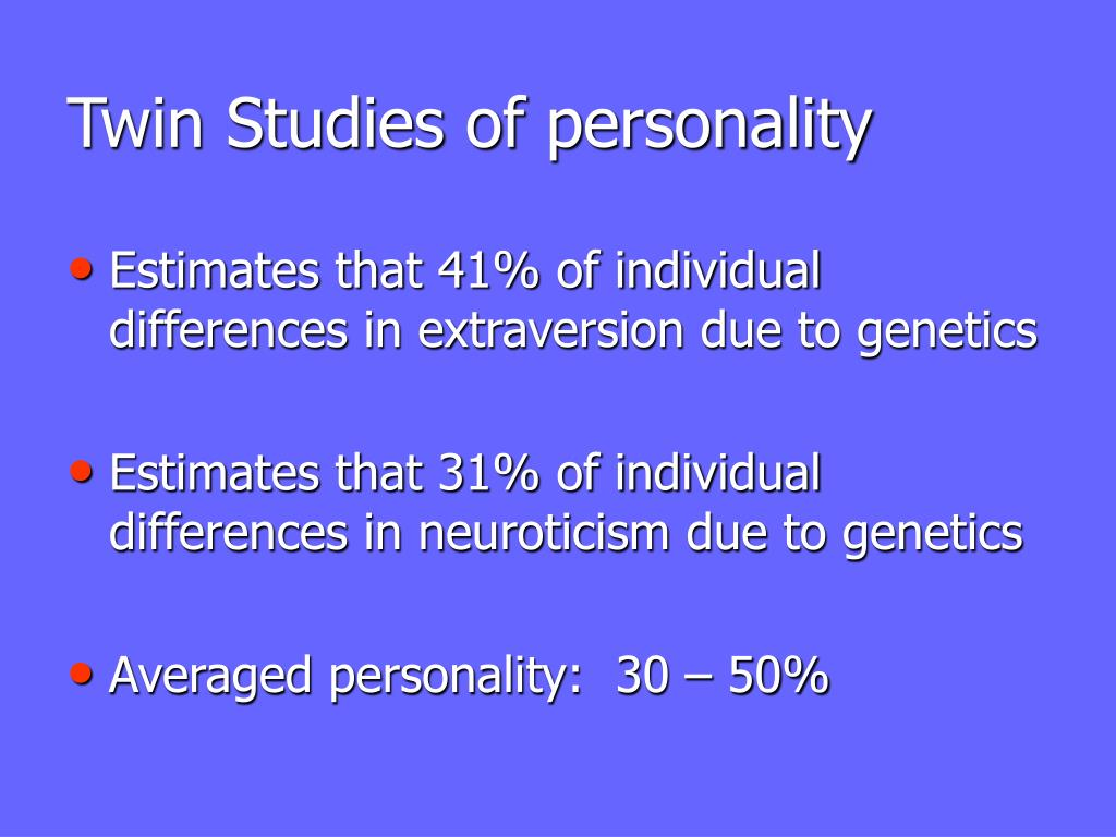 Twin Studies of personality