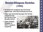 hoover stimpson doctrine 1932