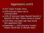 aggressions cont d