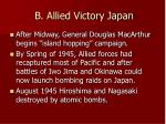 b allied victory japan