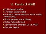 vi results of wwii