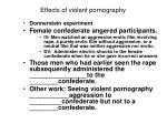 effects of violent pornography