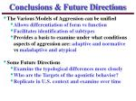 conclusions future directions