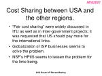 cost sharing between usa and the other regions