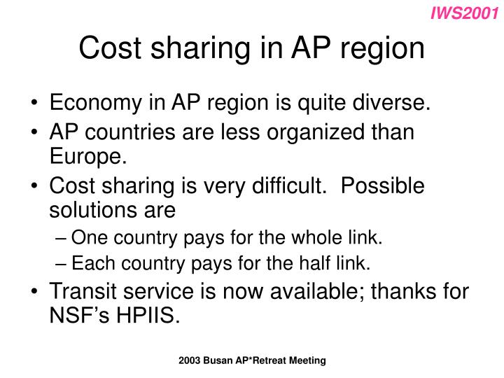Cost sharing in AP region