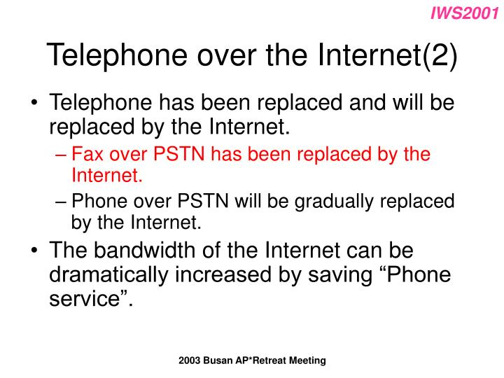 Telephone over the Internet(2)
