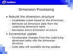 dimension processing