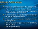 attribute relationships how to set them up