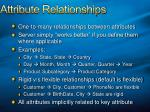 attribute relationships