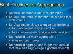 best practices for aggregations