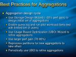 best practices for aggregations62