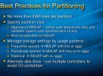 best practices for partitioning