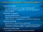 component drilldown tasks transforms