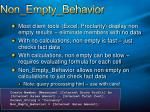 non empty behavior