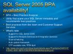 sql server 2005 bpa availability