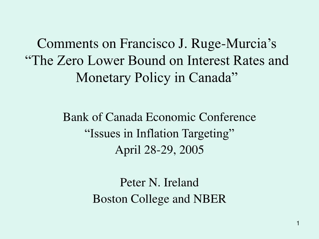 Comments on Francisco J. Ruge-Murcia's