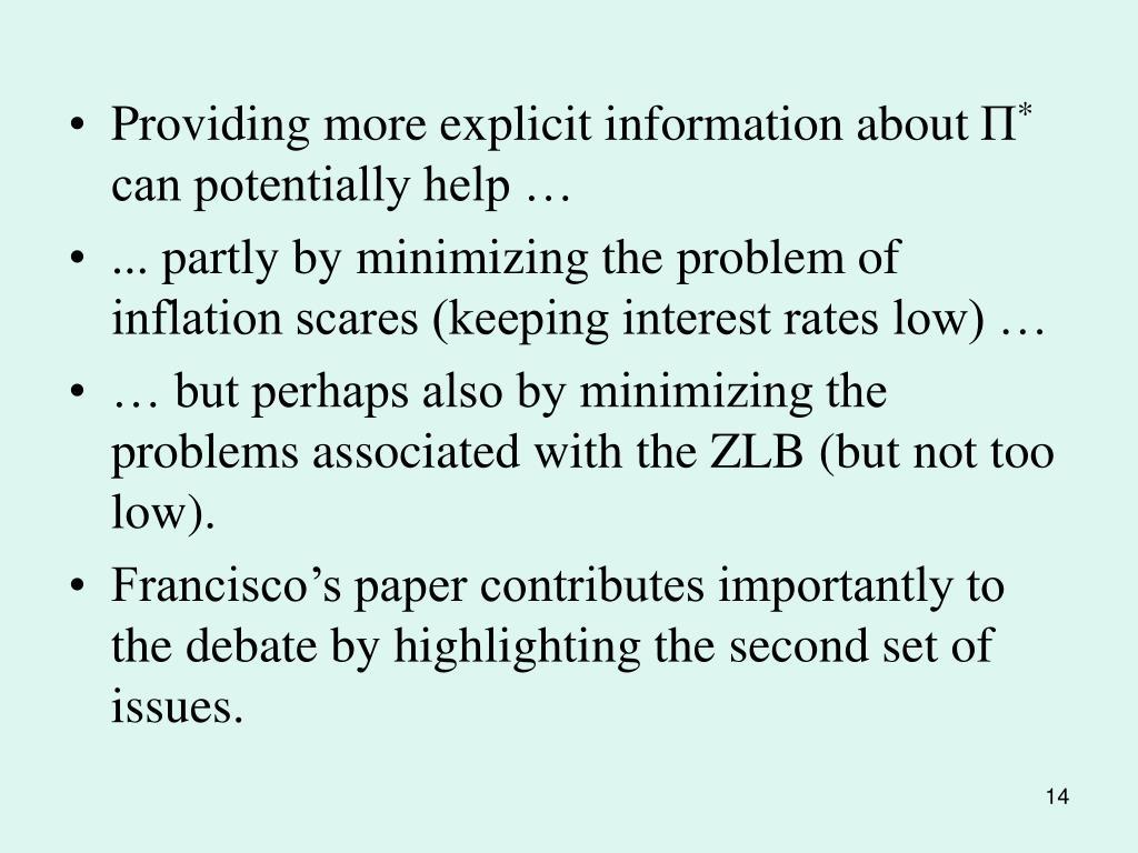 Providing more explicit information about