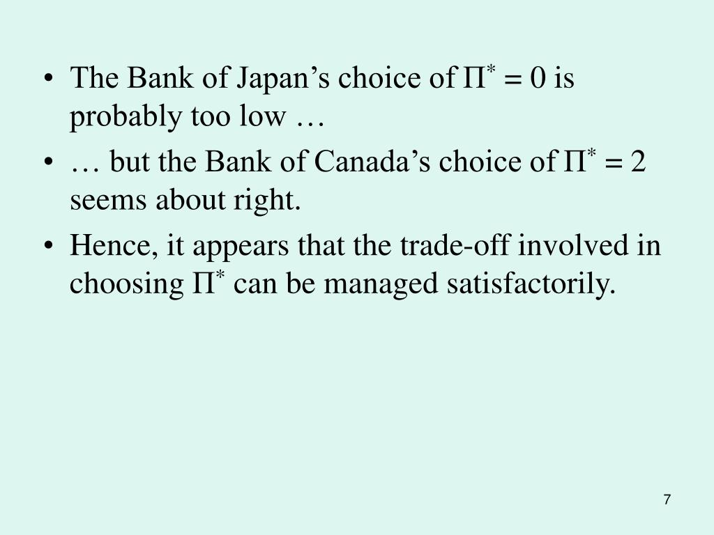 The Bank of Japan's choice of