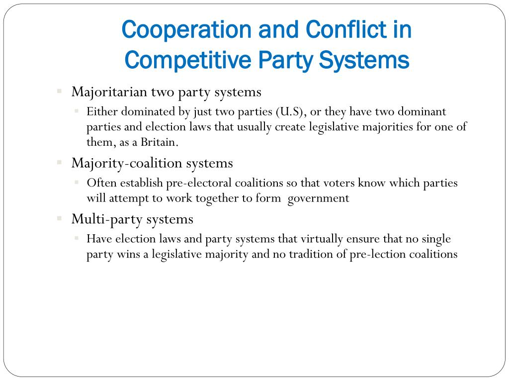 Cooperation and Conflict in Competitive Party Systems