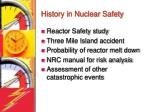 history in nuclear safety
