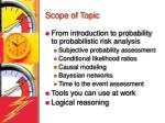 scope of topic