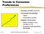 trends in consumer preferences