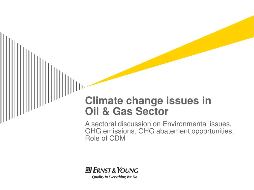 climate change issues in oil gas sector l.