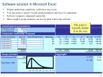 software solution in microsoft excel