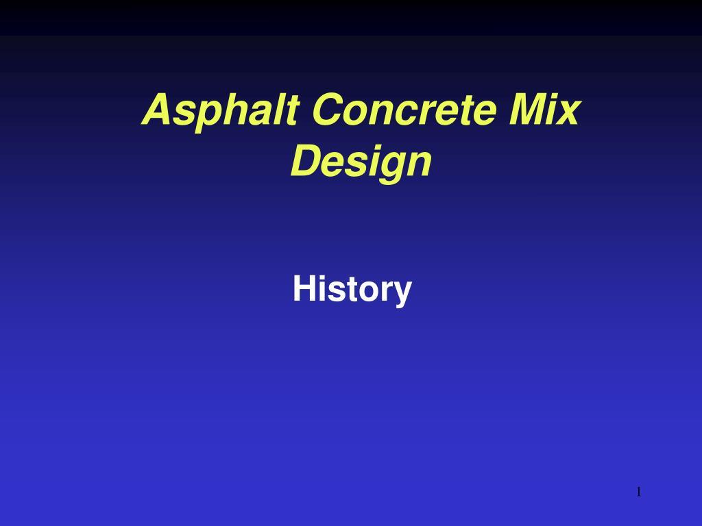 asphalt concrete mix design l.