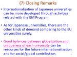 7 closing remarks