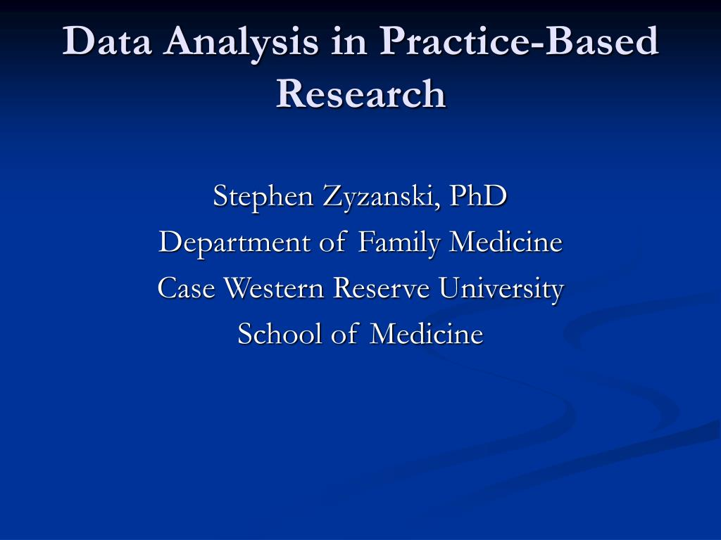 data analysis in practice based research l.